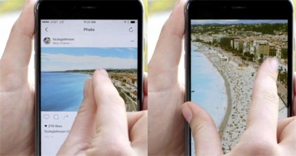 Chức năng zoom trên Instagram. (Ảnh: internet)