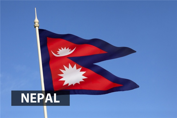 Nepallà quốc gia duy nhất mà quốc kỳ không phải hình chữ nhật hoặc hình vuông. Hai tam giác chồng lên nhau đại diện cho Ấn độ giáo và Phật giáo trong khi màu đỏ tượng trưng cho hoa đỗ quyên, quốc hoa của Nepal, thể hiện sựchiến thắng và hòa hợp. Mặt trăng tượng trưng chothời tiết mát mẻ trên dãy Himalayacòn mặt trời là hiện thân cho sức nóng của các khu vực thấp ởNepal.