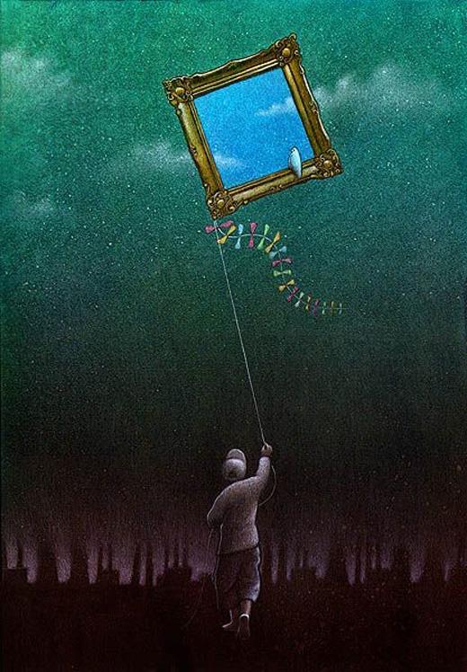 Thế giới chúng ta đang sống đã bị hủy hoại nặng đến nỗi màu xanh và hòa bình chỉ còn nằm trong trí tưởng tượng.