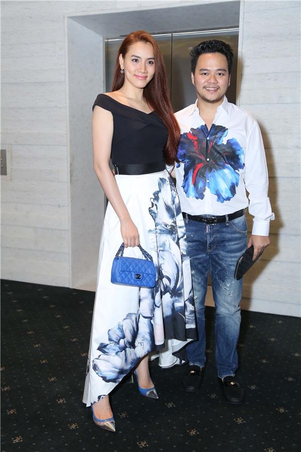 Người đẹp Trang Nhung được chồng tháp tùng đến dự đêm chung kết The Face.