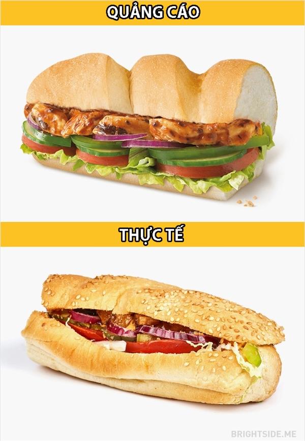 """Thức ănnhanh mà, làm nhanh quá thì cũng phải vô tình """"rơi rụng"""" vài ba thành phần chứ."""