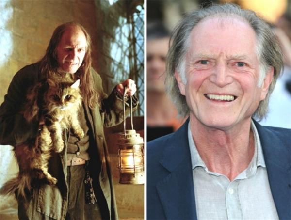Argus Filch - giám thị của trường Hogwarts là một lão già cáu kỉnh mang trong người dòng máuSquib, sau Harry Potter, sự nghiệp của ông nghiêng về mảng truyền hình nhiều hơn là điện ảnh.