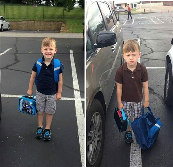 Nụ cười đã tắt ngấm trên môi cậu bé trong ngày đi học thứ hai.