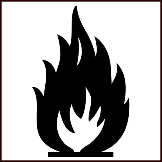 Biểu tượng ngọn lửa thường xuất hiện rất phổ biến trên các bao bì, nó thể hiện tính dễ cháy nổcủa sản phẩm, vì vậy mà bạn nên đặt chúng cáchxa cácnguồn nhiệt và lửa.