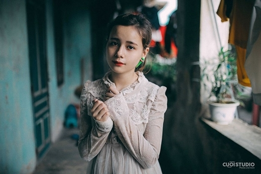 Ai cũng sẽ dễ dàng bị ấn tượng bởi vẻ đáng yêu, ngây thơ của Maria.