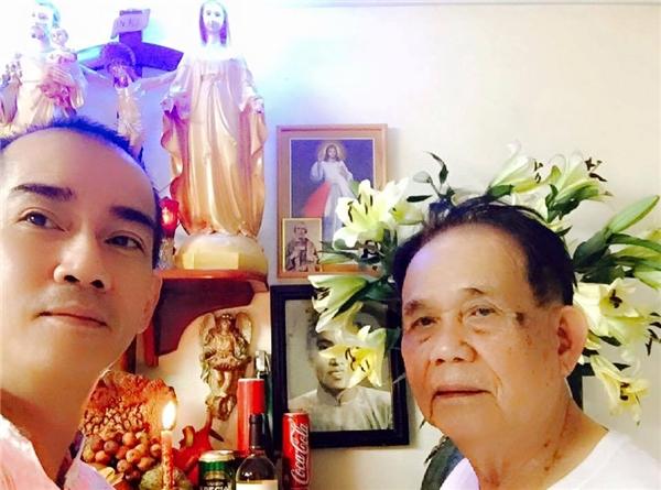 Minh Thuận và bố trong dịp Tết Bính Thân 2016. - Tin sao Viet - Tin tuc sao Viet - Scandal sao Viet - Tin tuc cua Sao - Tin cua Sao