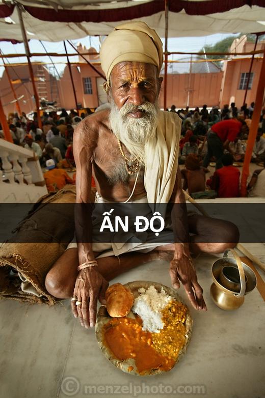 Sitarani Tyaagi (70 tuổi), cụ già ở Ujjain, Ấn Độ: 1.000 calo mỗi ngày. Mỗi ngày ông chỉ ăn một bữa và uống nước thay cơm trong hai bữa còn lại.