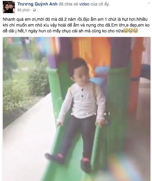 Sáng ngày 05/09, Trương Quỳnh Anh bồi hồi nhớ lại ngày đầu tiên đưa con đến trường cách đây hainăm. - Tin sao Viet - Tin tuc sao Viet - Scandal sao Viet - Tin tuc cua Sao - Tin cua Sao