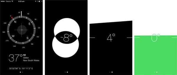 Đo độ bằng phẳng của một vật: chọn ứng dụng Compass,xoay máy theo một vòng tròn 360° để thực hiện chức năng Calibrategiúp máy xác định được phương hướng, sóng từ trường, sóng radio…, đồng thời để giúp máy đo đạc được chính xác hơn. Ngoài chức năng xác định phương hướng từ la bàn, nó còn giúp bạn đo độ bằng phẳng của một vật hoặc một mặt phẳng nữa.