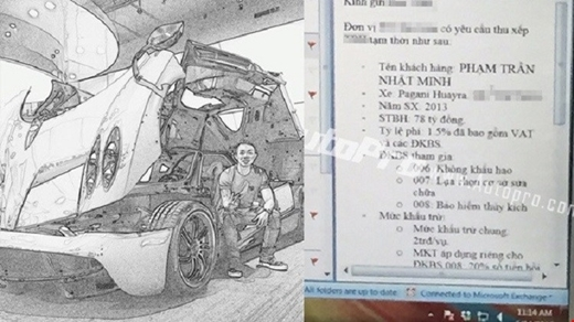 Hình ảnh được lan truyền hồi tháng 4 dấy lên tin đồn về chủ nhân chiếc xe.