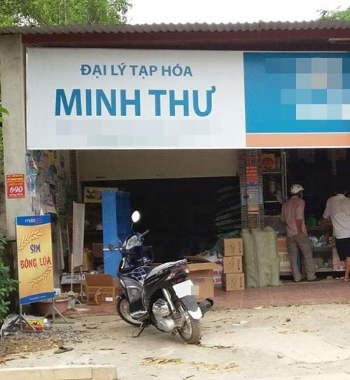 Cửa hàng tạp hóa của bà Minh, nơi thanh niên 9Xtrộm 100 triệu đồng.
