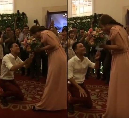 Trong khoảnh khắc này, cô gái váy hồnglà người hạnh phúc nhất thế gian.