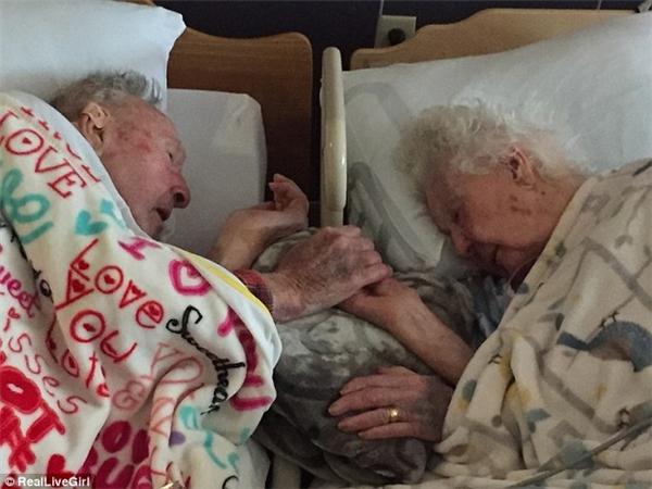 Hình ảnh cụ ông trăm tuổi nắm chặt bàn tay vợ trên giường bệnh trước khi bà ra đi đã khiến nhiều người không khỏi xúc động. Ảnh: RealLiveGirl.