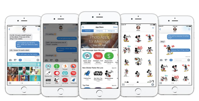 Rất nhiều sitcker dễ thương vui nhộn trên iMessage mới. (Ảnh: internet)