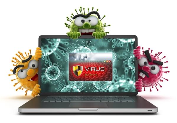Laptop thông thường rất dễ bị nhiễm virus. (Ảnh: internet)