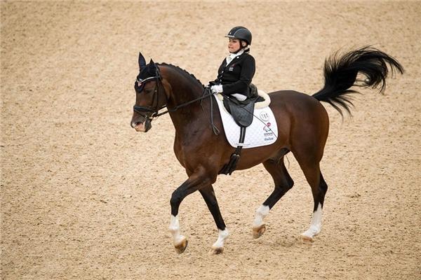 Stinna Kaastrup, VĐV người Đan Mạch cưỡi ngựa tranh HCĐ ở nội dung cưỡi ngựa tự do cá nhân ởParalympic2016.