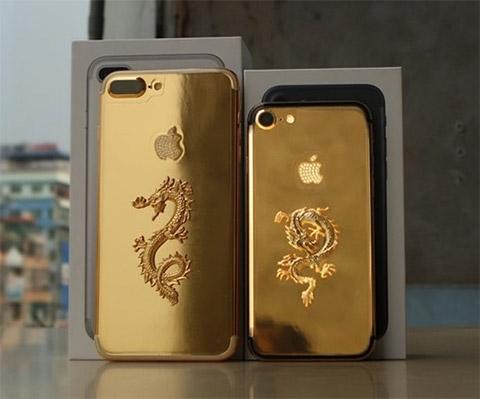 Lóa mắt với iPhone 7/ 7 Plus vàng rồng giá gần trăm triệu tại Việt Nam