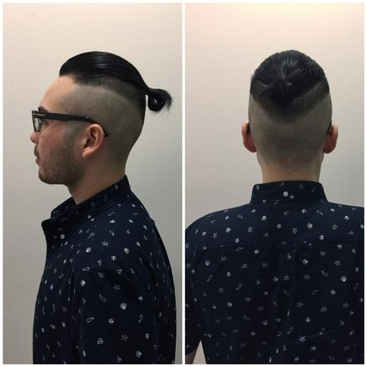 Kiểu tóc sành điệu này đang là trào lưu được nhiều chàng yêu thích.