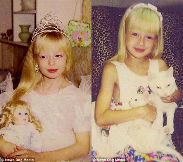 Theo yêu cầu của bố mẹ, cô ăn mặc và sốngnhư một conbúp bê Barbie thực thụ.