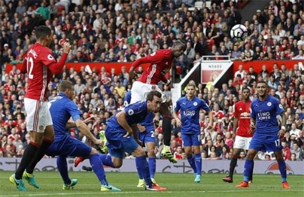 Pogba đã có bàn thắng ra mắt Quỷ đỏ. (Ảnh: Internet)