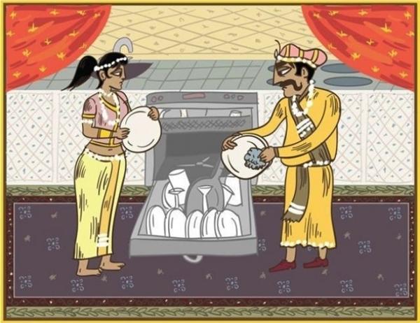 """Để giữ """"hòa khí"""", tốt nhất là hai vợ chồng nên phân công việc làm cùng với nhau và tất nhiên, chồng làm gì cũng phải trong tầm kiểm soát của vợ để đảm bảo an toàn cho đồ vật trong nhà."""