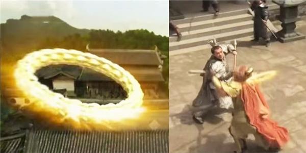 Năm xưa khiđang kịch chiến với Nhị Lang Thần, Tôn Ngô Không bị ném Kim Cang Trátvòng trúng đầu té nhào, ngất đi nên mới bị bắt.