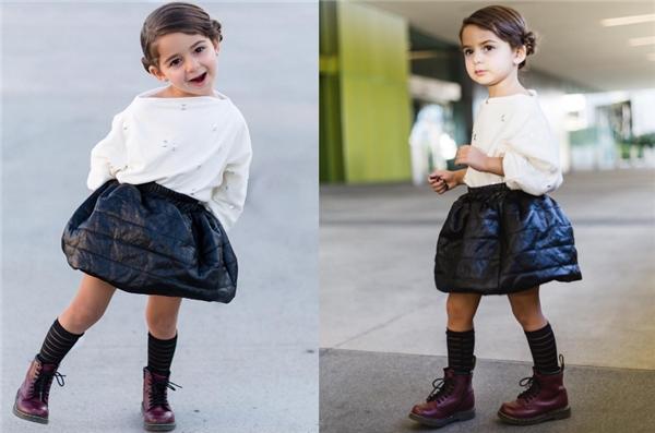 Julia trở thành mẫu nhí khi chỉ mới 2 tuổi.