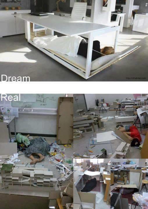 Học kiến trúc mà sạch sẽ, gọn gàng à? Nhầm rồi nhé!(Ảnh: Facebook Kênh Kiến Trúc)