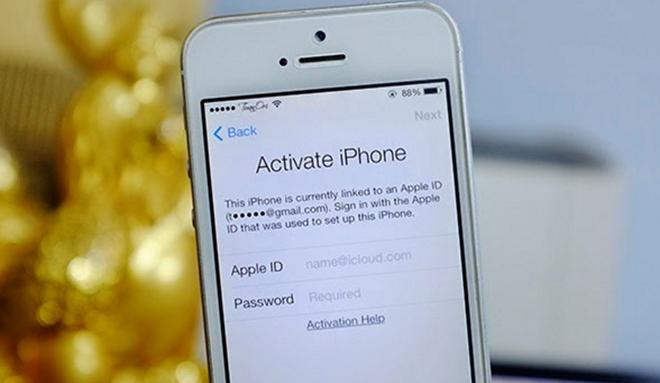Máybị dính lỗi Activation Lockkhông thể kích hoạt và sử dụng được. (Ảnh: internet)
