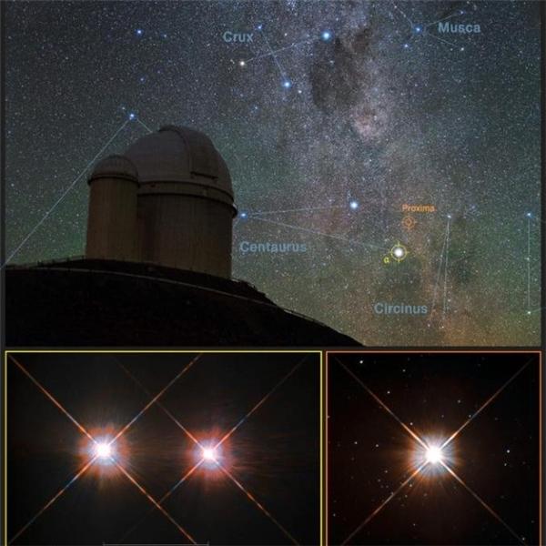 Proxima b được ESO phát hiệncách Trái Đất 4,2 năm ánh sáng. (Ảnh: internet)