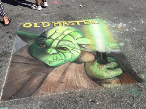 Nhân vật Yoda trong phim Star Wars được tái hiện một cách sinh động và chuẩn xác đến từng chi tiết.