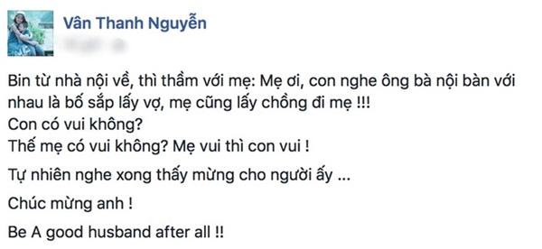 Dòng chia sẻ của Vân Hugo về việc khi nghe tin chồng sắp lấy vợ. - Tin sao Viet - Tin tuc sao Viet - Scandal sao Viet - Tin tuc cua Sao - Tin cua Sao