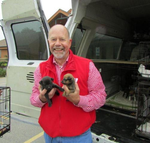 Rick Haugen - người anh hùng thầm lặng của những chú chó mèo kém may mắn.(Ảnh: BuzzFeed)
