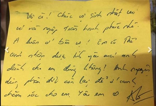 Lá thư tay đầy tình cảm khiến cư dân mạng xuýt xoa.