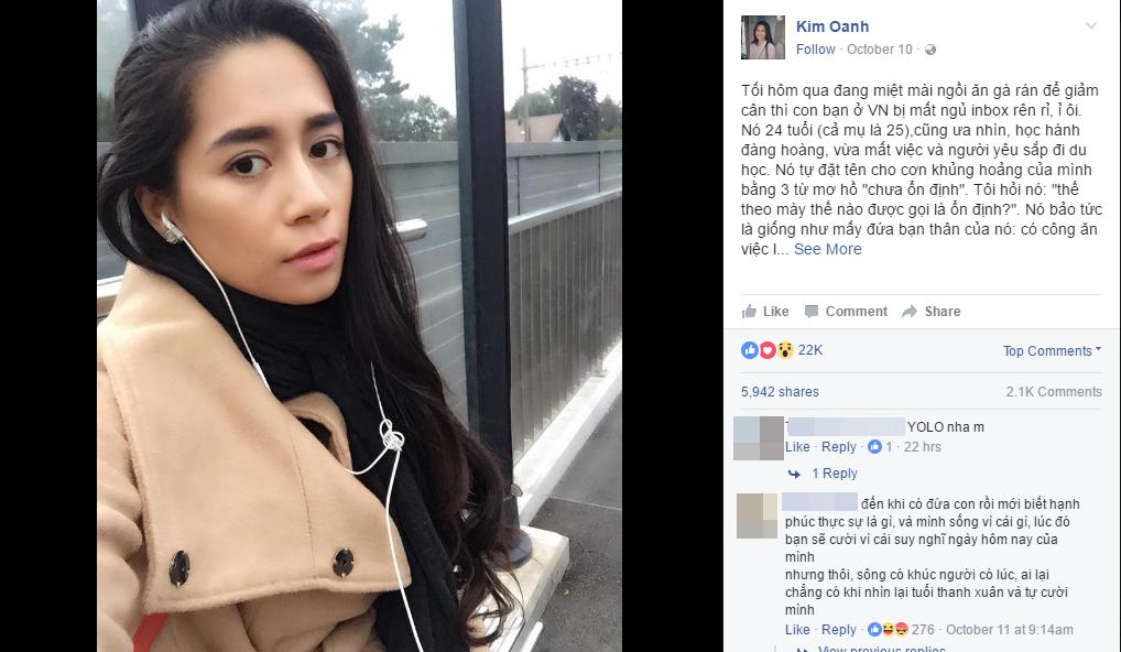 Bài viết của Kim Oanh nhận được gần 6.000 lượt chia sẻ. (Ảnh chụp màn hình)