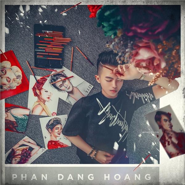 Tính đến nay, Hoàng đã có 50 bức tranh truyền thần về sao Việtvô cùng sống động với thần thái như thật.