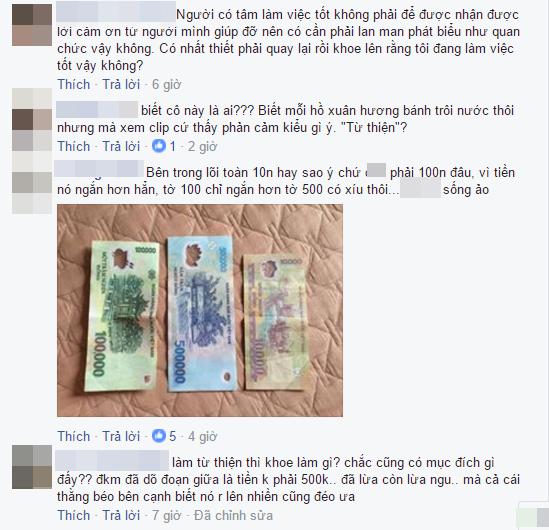 Có bạn trẻ còn chụp ảnh lại tờ tiền và so sánh độ dài ngắn khác nhau. (Ảnh: Chụp màn hình, Nguồn: Tổng hợp)