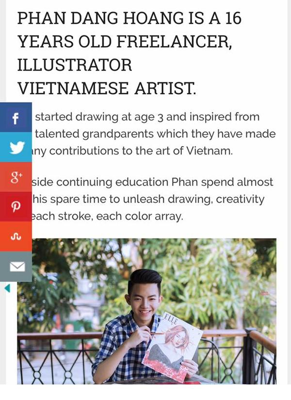 Bài báo về Phan Đăng Hoàng trên Art People.