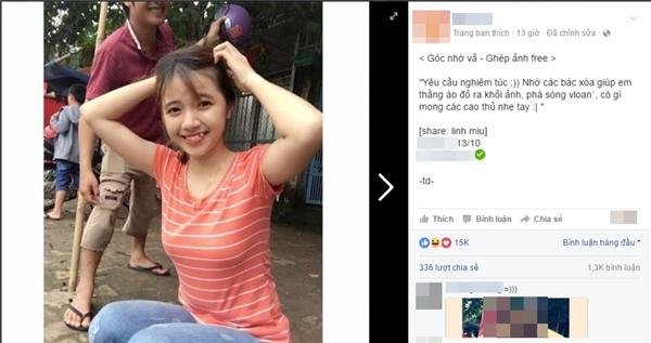 Bức ảnh cùng lời nhờ vả được đăng trên một trang mạng