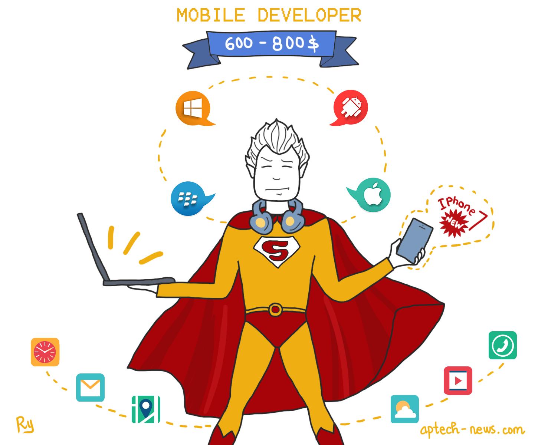 Là một App Developer, các anh chàng này sẽ bầu bạn với các hệ điều hành IOS, Android, Windows Phone cả ngày.