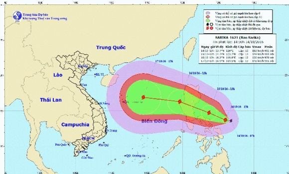 Bão số 7 mạnh cấp 12 sẽ đi vào biển Đông.