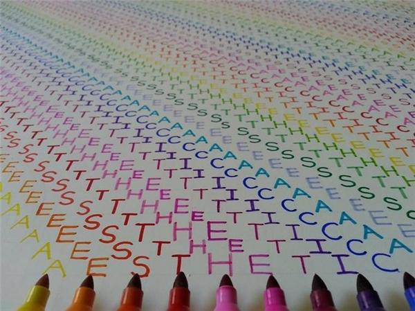 Có bao giờ bạn để ý đến vẻ đẹp tiềm ẩn trong những con chữ đầy màu sắc.