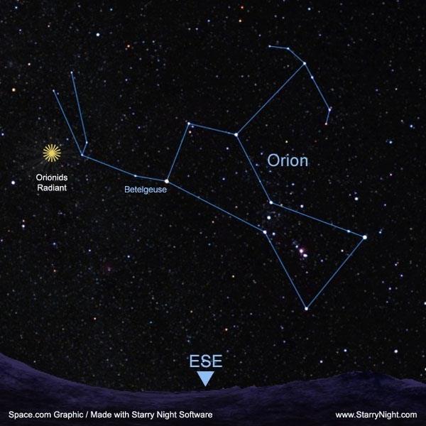 Hình ảnh chòm sao Orion được chụp lại.