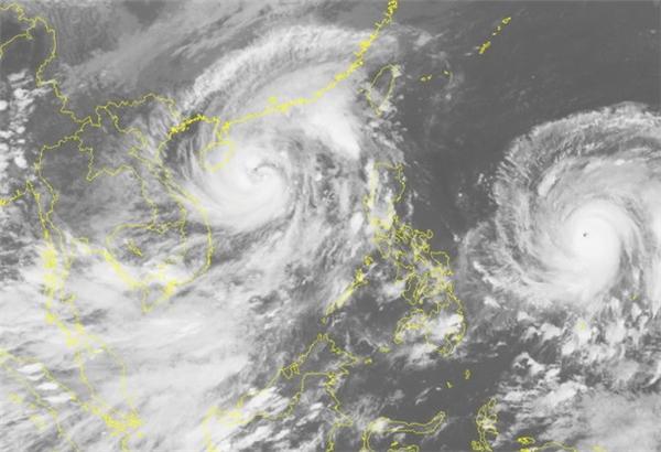 Siêu bão Haima đang hình thành ngoài khơi biển Philippines. (Ảnh: KTTV)