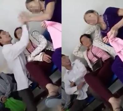 Phẫn nộ clip con trai đánh chửi mẹ già nơi công cộng