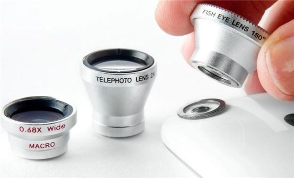 Thông thường gồm có các loại ống kính như: Ống mắt cá, ống góc rộng và ống chụpcận cảnh. (Ảnh: internet)