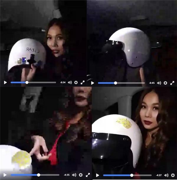 Thanh Hằng tạo dáng cực cool bên chiếc nón chuẩn ngầu của Clear.