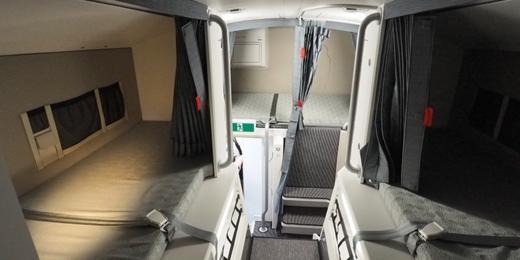 Một số buồng ngủ của tiếp viên hàng không trên máy bay.