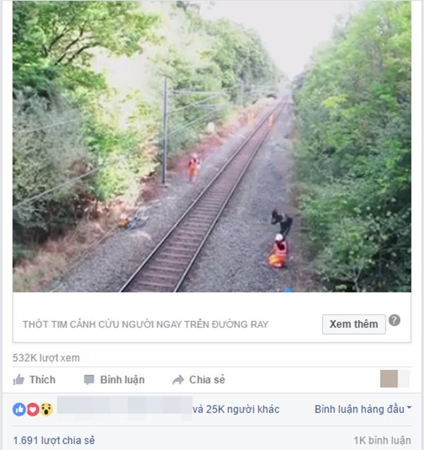 Sau ít giờ đăng tải trên một trang mạng tại Việt Nam, đoạn clip đã thu hút hơn nửa triệu lượt xem. (Ảnh: Chụp màn hình)