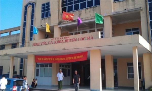 Bệnh viện đa khoa huyện Lộc Hà. (Ảnh: Internet)